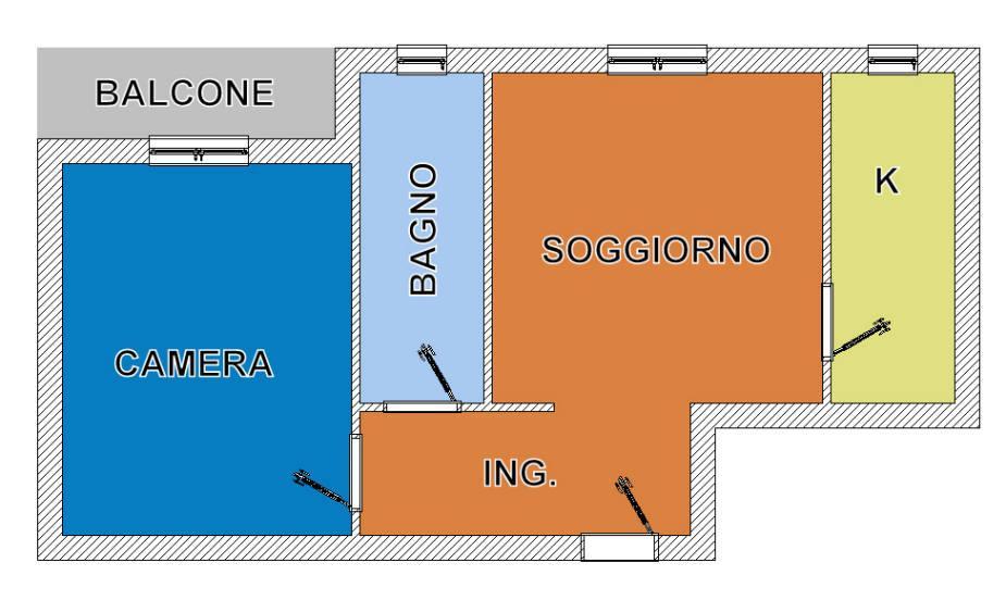 Bilocale Cinisello Balsamo Via De Gasperi 13 1