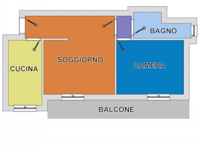 Bilocale Cinisello Balsamo Via Montello 21 1