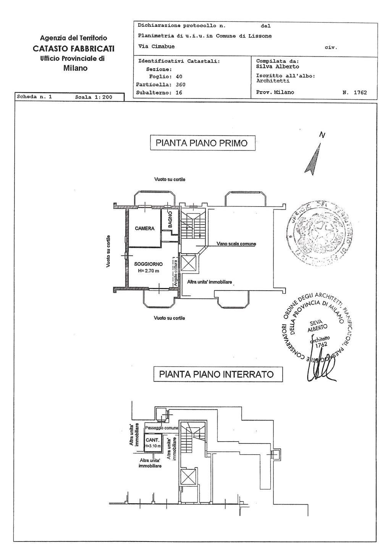 Vendita  bilocale Lissone Via Cimabue 9 1 1083439