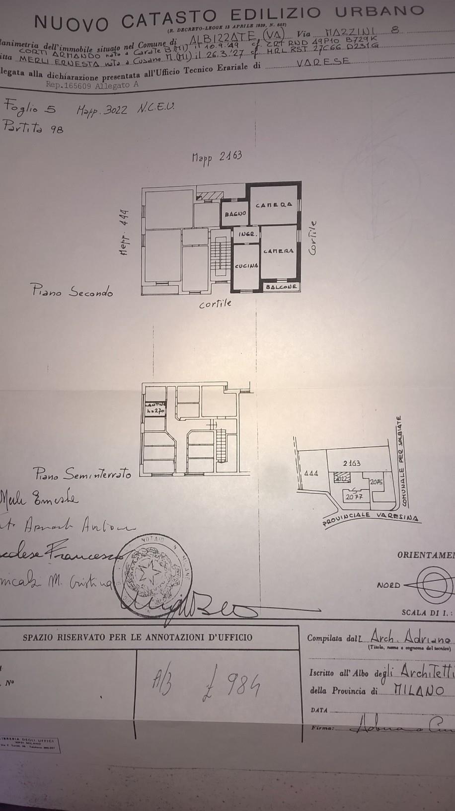 Vendita  bilocale Albizzate Via Mazzini 8 1 863674