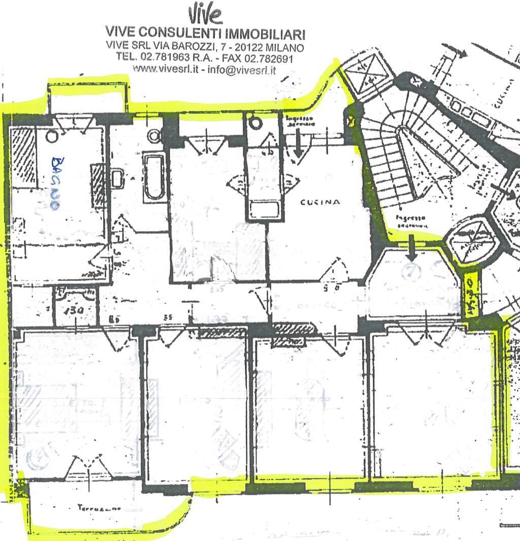 Appartamento in affitto a milano via morozzo della rocca 2 for Grandi bagni padronali