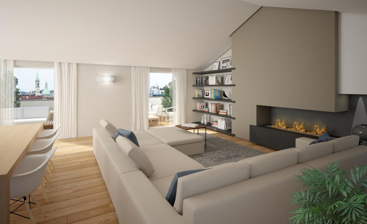 Attico in vendita a milano del bollo via 6 for Immagini di appartamenti moderni